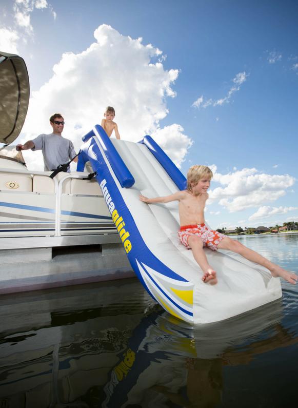 Aquaglide Pontoon Boat Slide | At The Lake Distributing - Wholesale